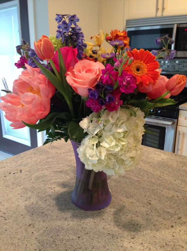 flowers from mom and dad